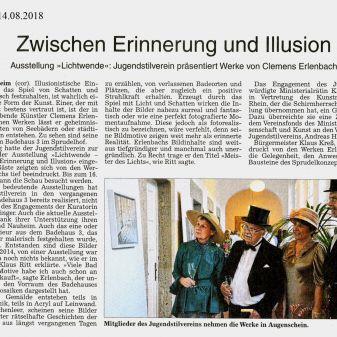 """WZ 14.08.2018 """"Lichtwende"""""""